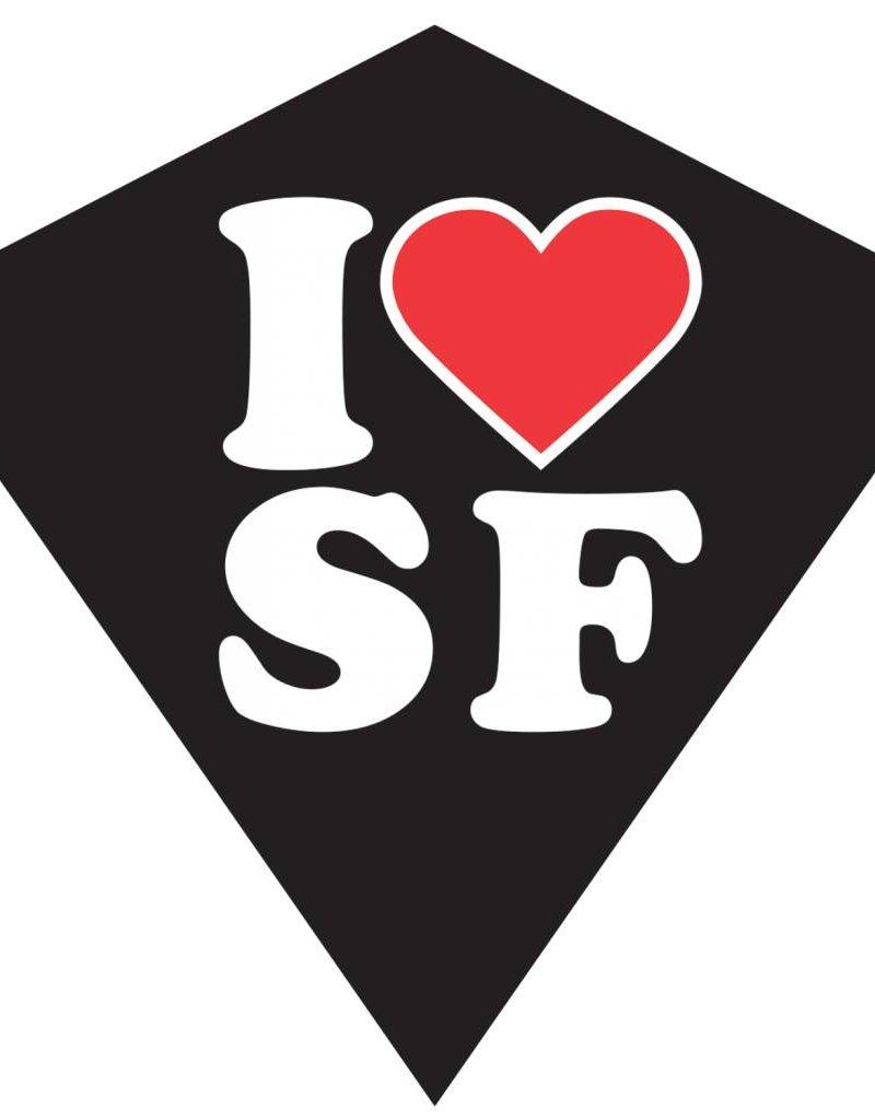 """Wind N'Sun I HEART SF SOUVENIR DIAMOND KITE 23"""""""