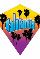 "Wind N'Sun CALIFORNIA SOUVENIR DIAMOND KITE 23"""
