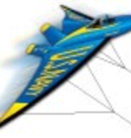 Ultra X-Kites BLUE ANGEL AIRPLANE DUAL LINE 3D KITE