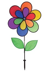 """In The Breeze DOUBLE RAINBOW FLOWER SPINNER 19"""""""