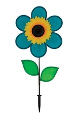 """In The Breeze TEAL SUNFLOWER SPINNER 12"""""""