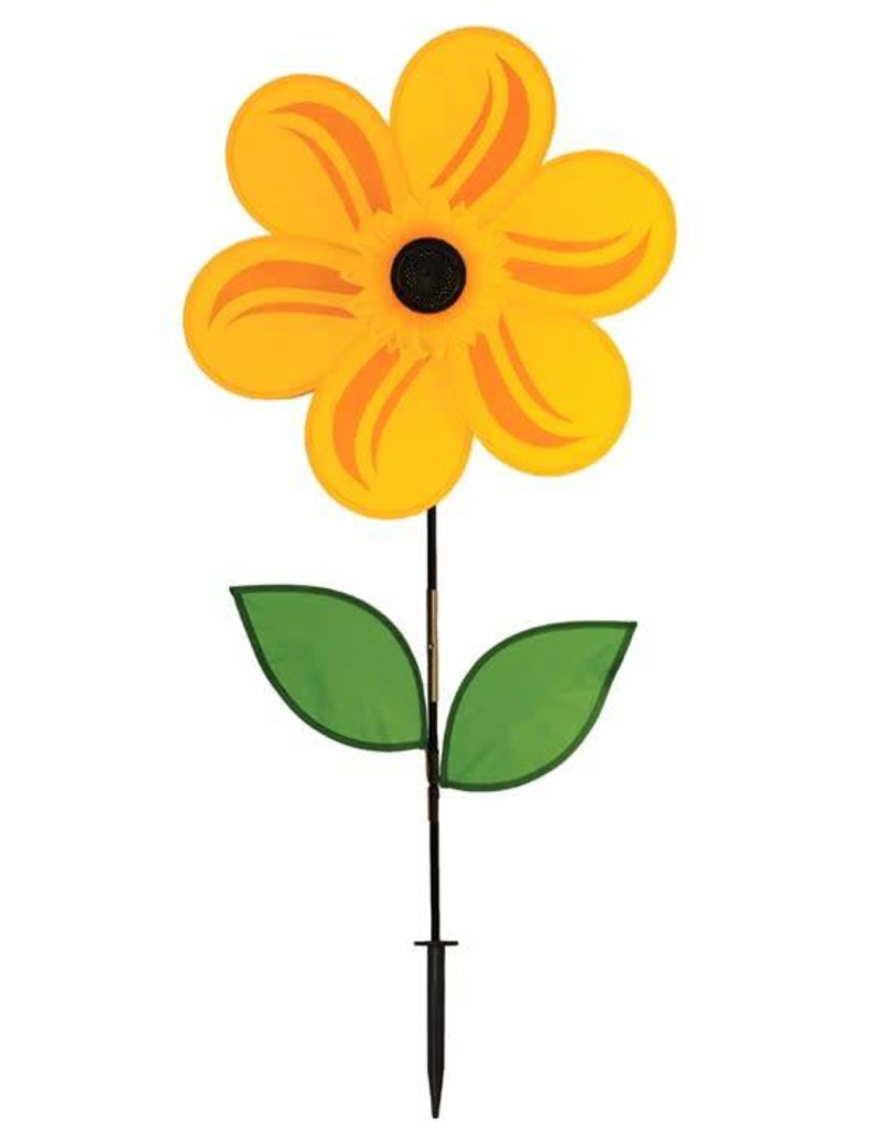 In The Breeze YELLOW SUNFLOWER SPINNER 19""