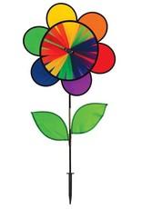 "In The Breeze DOUBLE RAINBOW FLOWER WHEEL COMBO SPINNER 19"""