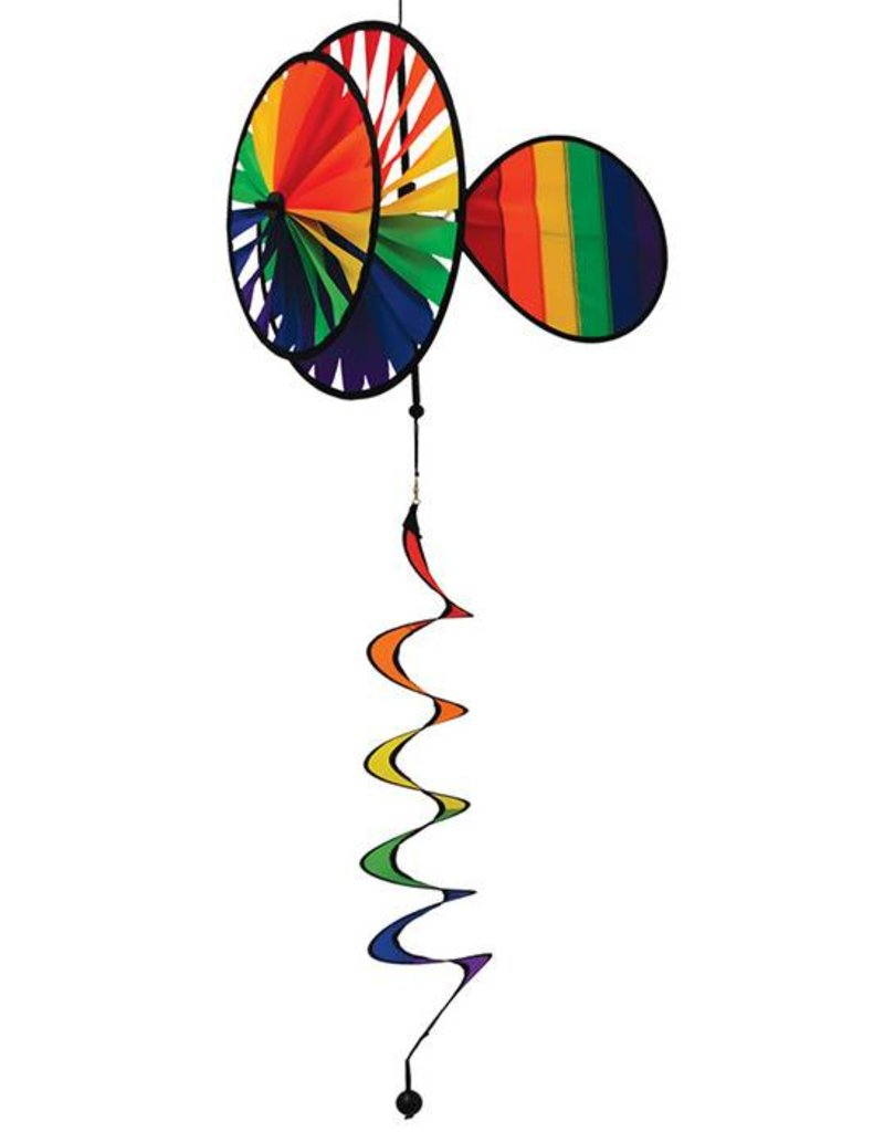 """In The Breeze RAINBOW HANGING SPINNER 14"""""""