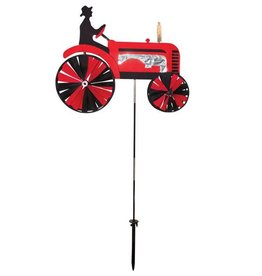 In The Breeze RED TRACTOR SPINNER 24""
