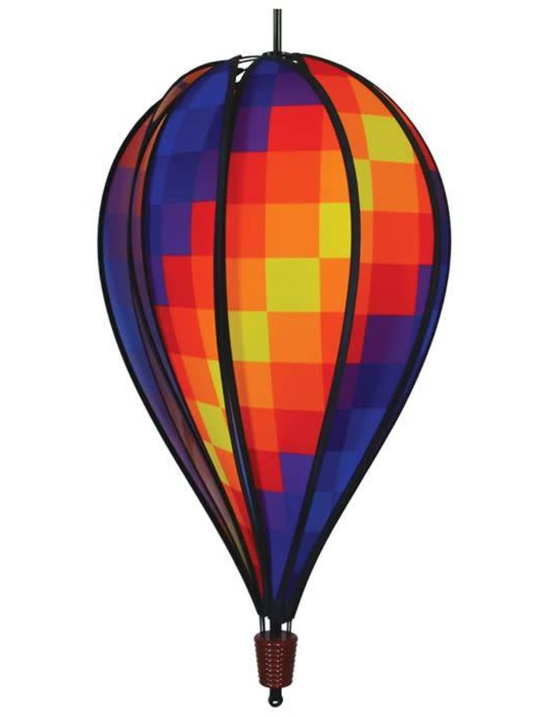 """In The Breeze RAINBOW PIXEL HOT AIR BALLOON 25"""""""
