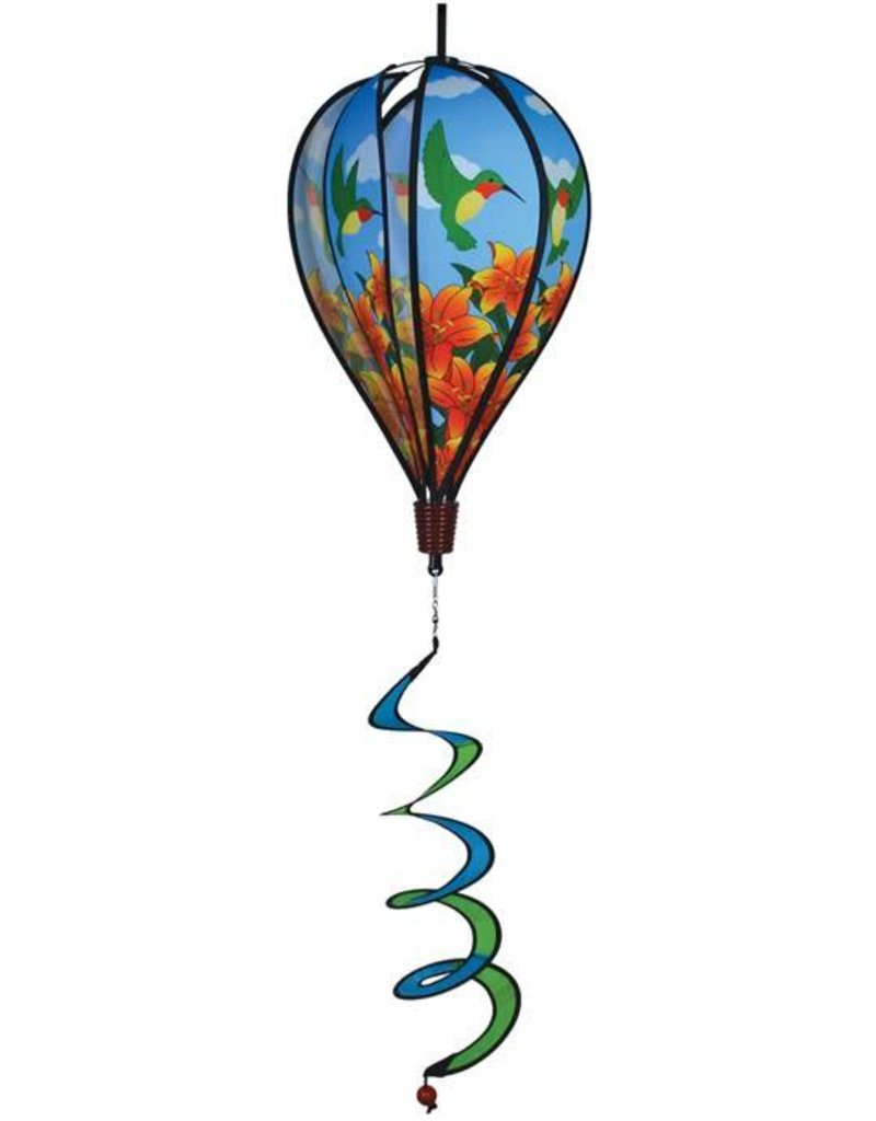 """In The Breeze HUMMINGBIRD LILY HOT AIR BALLOON 17"""""""