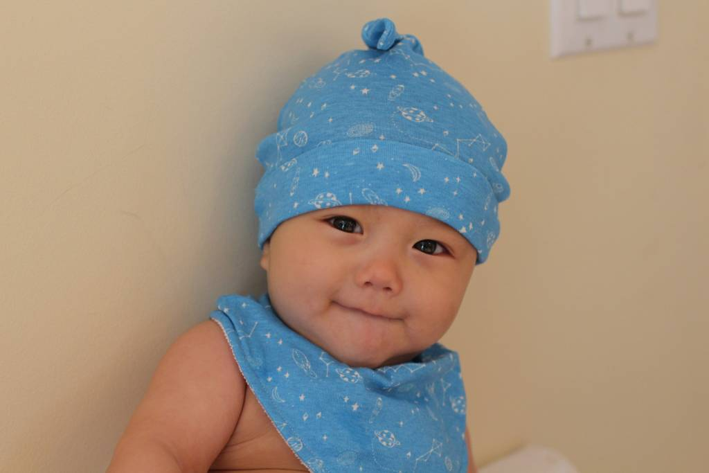 Organic Cotton Top Knot Beanie