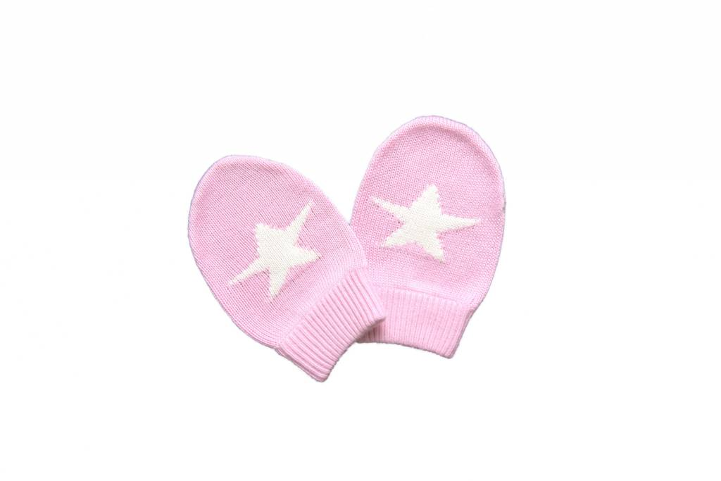 Knit Bamboo Star Mittens