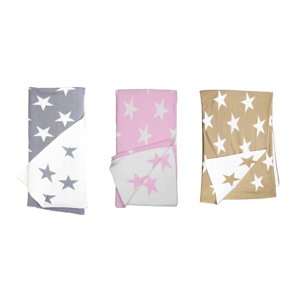 Knit Bamboo Star Blankets