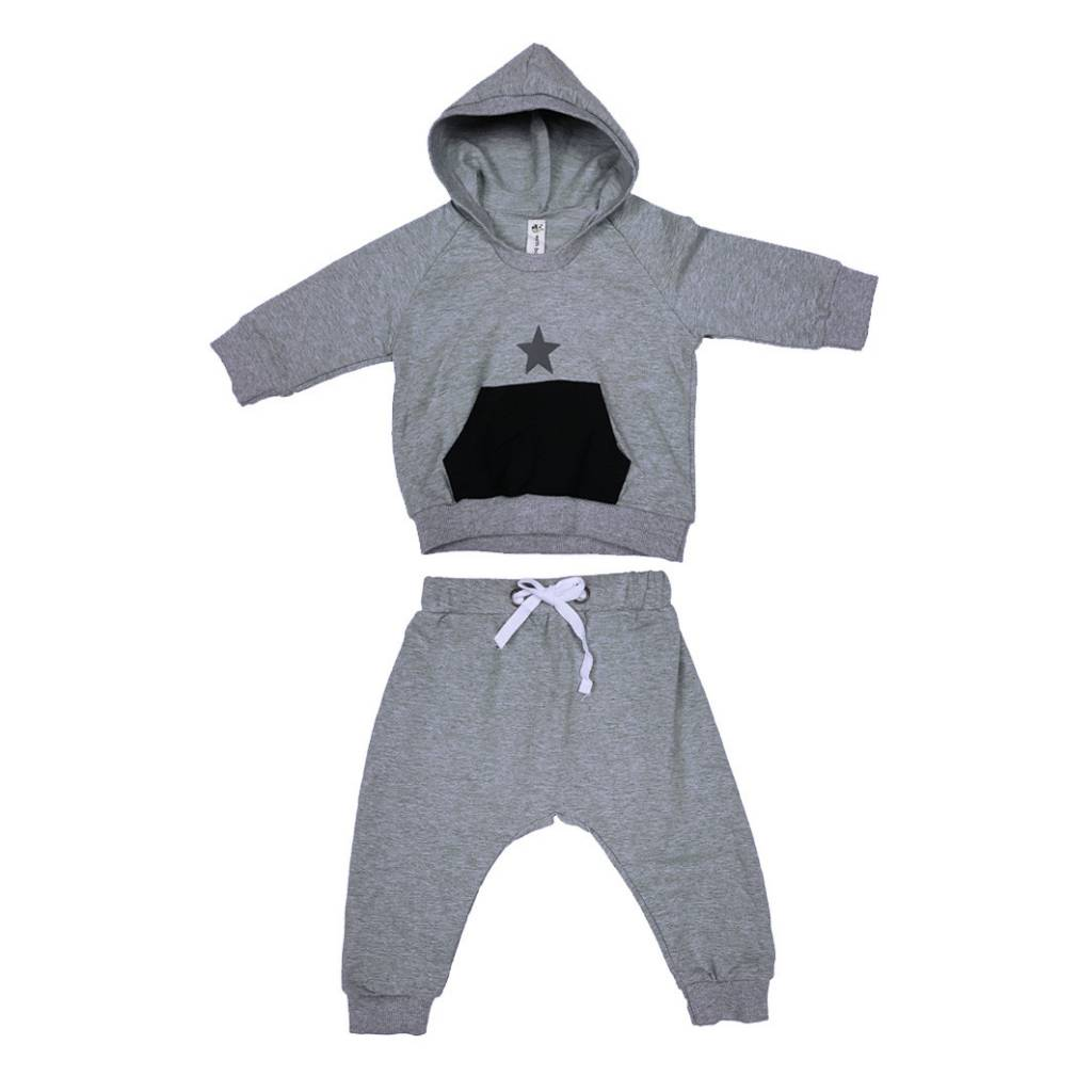 Organic Cotton Star Hoodie 2 Piece Set