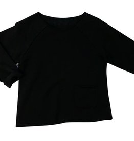 Organic Cotton Raw Edge Sweatshirt
