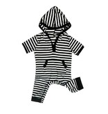 Bamboo Short Sleeve Hoodie Coverall