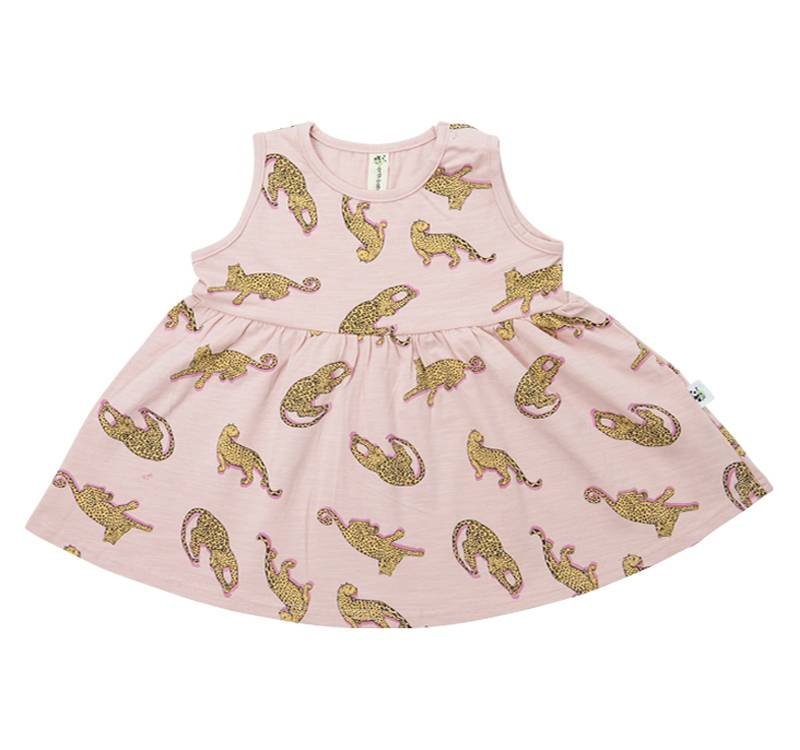 Pink Jaguars – Puffy Birds dress