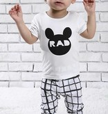 Bamboo Short Sleeve Pajama Set with unique designs pants