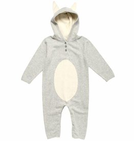 Organic Cotton Knit Bunny Romper