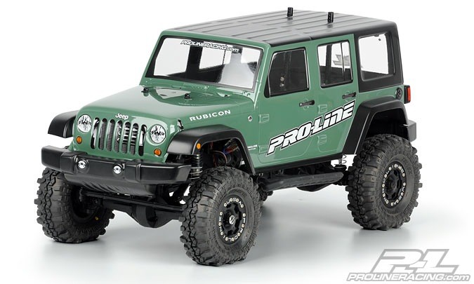 Parts Proline Jeep Wrangler Unlimited Rubicon Clear Body Fits 1/10th  Crawlers