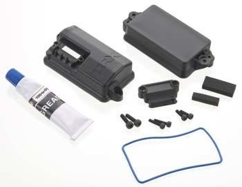 Parts Traxxas Box, receiver (sealed)/ foam pad/2.5x8mm