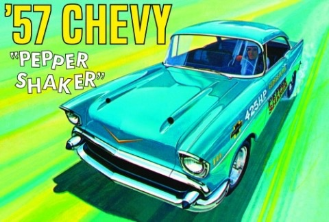 Plastic Kits AMT (new) 1:25 1957 Chevy Pepper Shaker Car