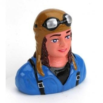 Parts Hangar 9 1/7 Pilot-Civilian, Linda with Helmet & Goggles