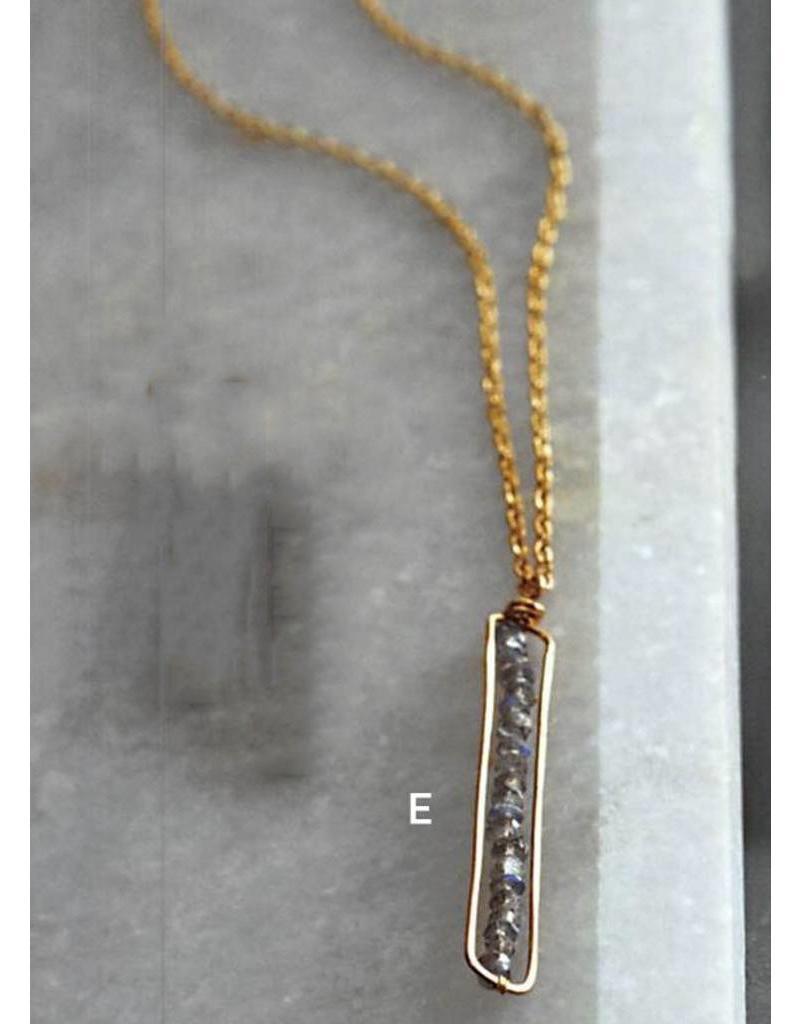 Labradorite Peapod Necklace