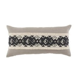 Kuba Applique Band 15x30 Lumbar Pillow