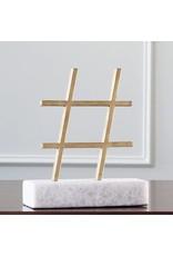 Gold Hashtag Figurine
