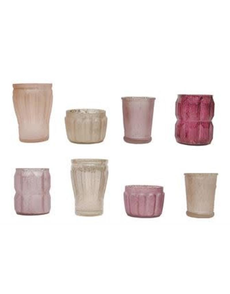 Mercury Glass Tealight Holders - pinks
