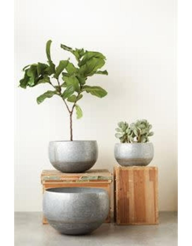 Galvanized Metal Planter - medium