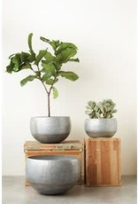 Galvanized Metal Planter - small