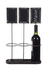 Wine Holder w/ Chalkboards