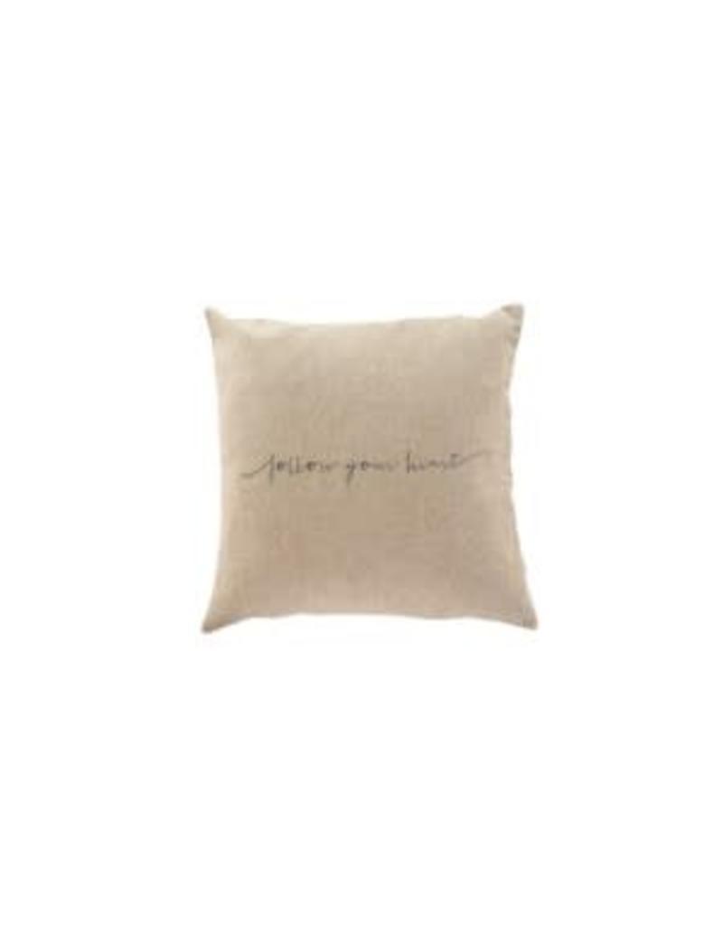 Follow Your Heart Linen Pillow