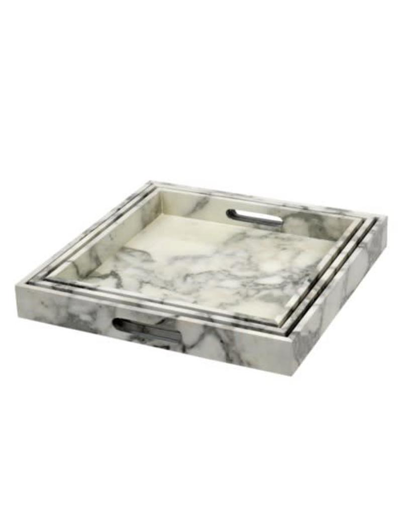 Marble Effect Tray - large