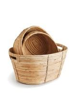 Cane Rattan Oval Basket - large