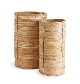 Cane Rattan Cylinder - large