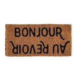 Bonjour/Au Revoir Doormat