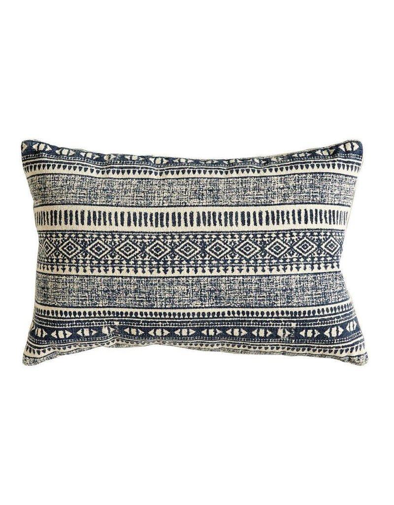 Natural & Blue Pillow