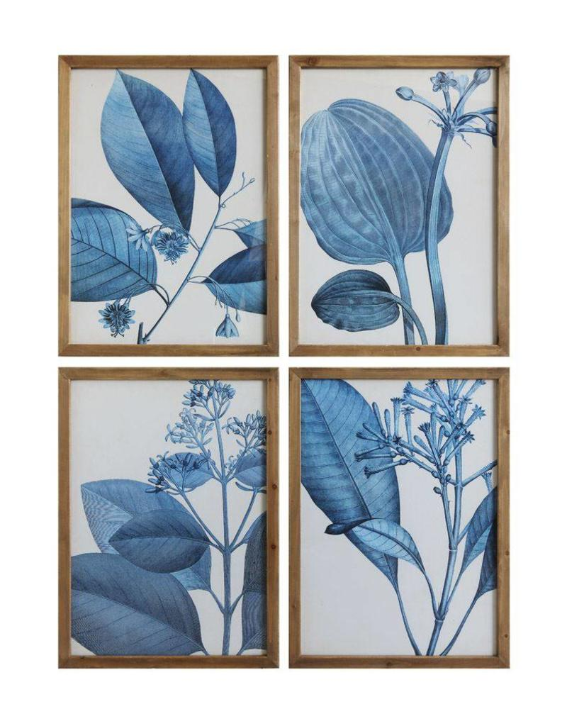 Blue Botanicals Framed