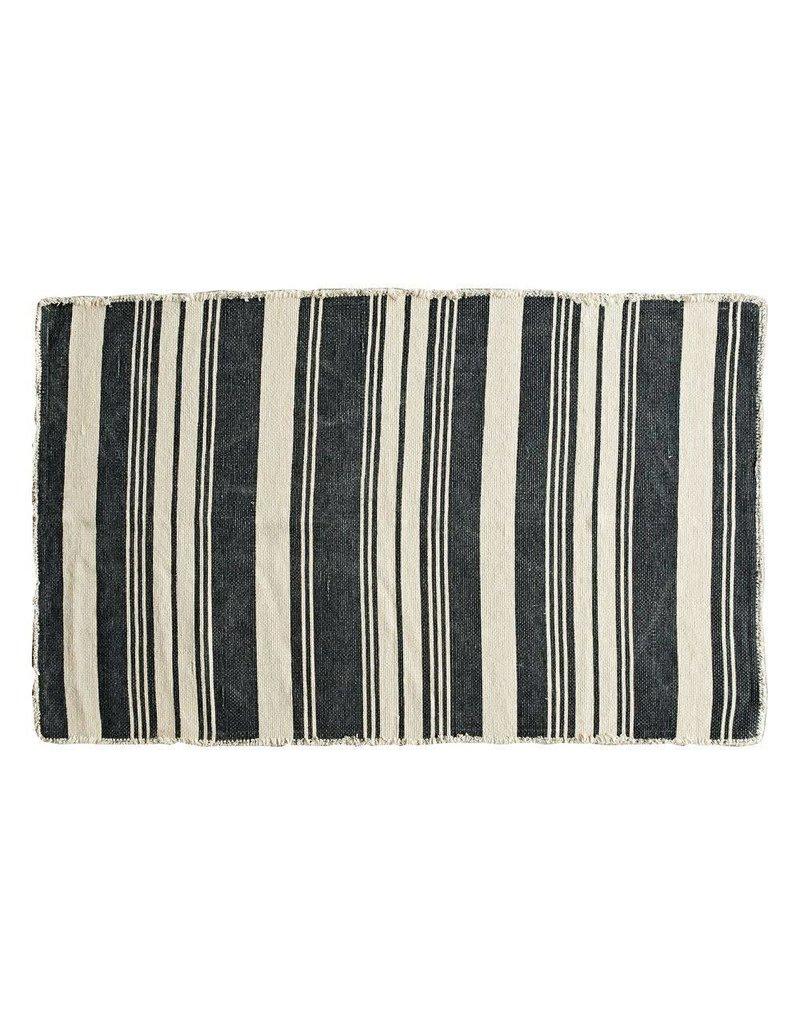 3x5 Cotton Rug w/ Stripes