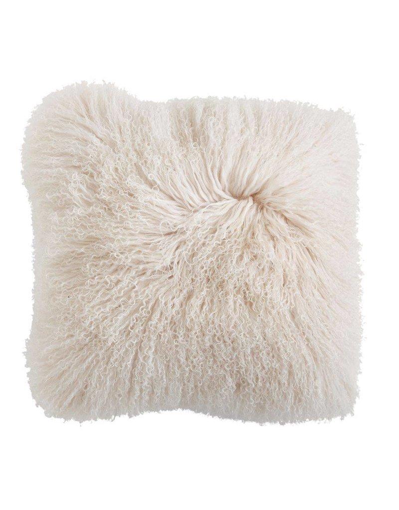 Cream Mongolian Fur Pillow