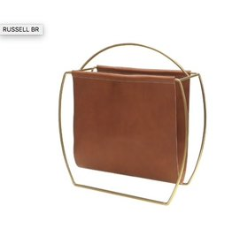Russell Leather Magazine Rack