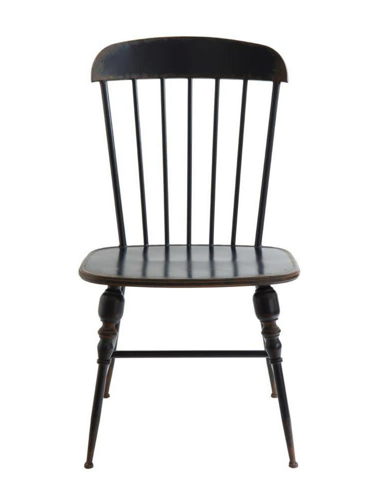 Distressed Metal Farmhouse Chair