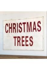 Vintage Style Christmas Tree Sign