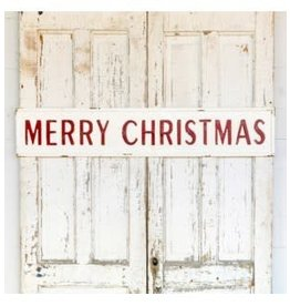 Embossed Metal Merry Christmas Sign
