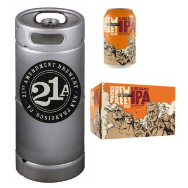 21st Amendment Brewery 21st Amendment Brew Free! or Die Blood Orange IPA (5.5 GAL KEG)