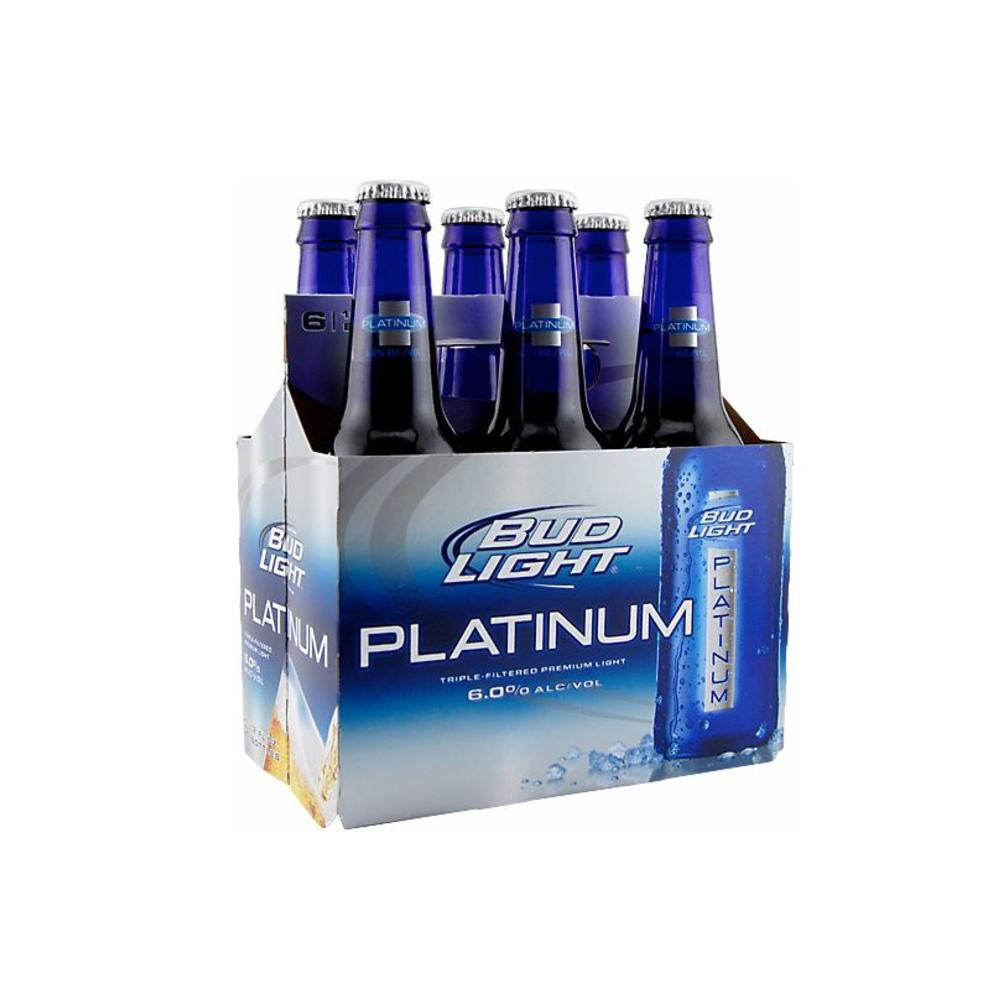 platinum pack bud lager wine and light slim beer can