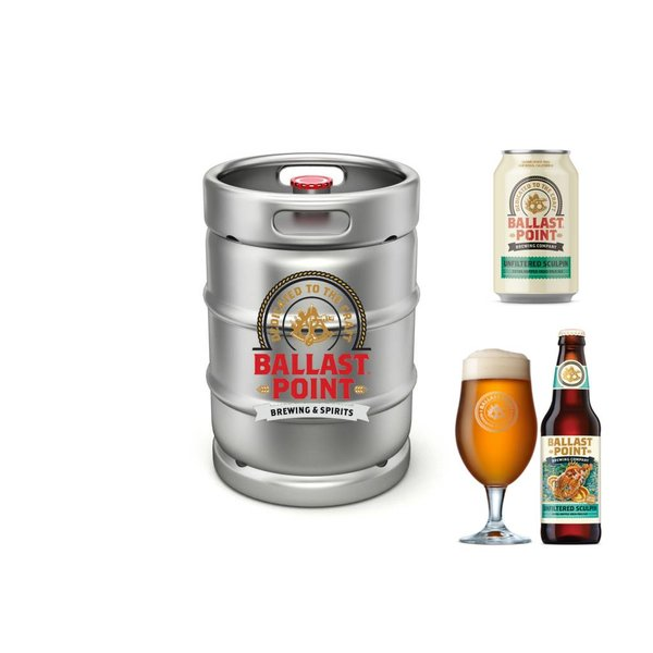 Ballast Point Brewing Company Ballast Point Unfiltered Sculpin Extra Hopped IPA(15.5 GAL KEG)