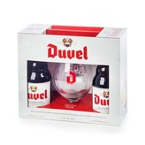 Duvel Four Pack Gift Set (2 Belgian Golden Ale, 1 Signature Glass, 2 Duvel Tripel Hop with Citra)