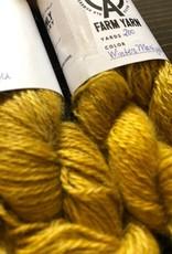 Old Homestead Alpacas 2-ply 100% Suri Winter Marigold
