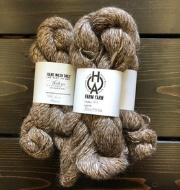 Old Homestead Alpacas 2-ply 100% Suri Brown Marble
